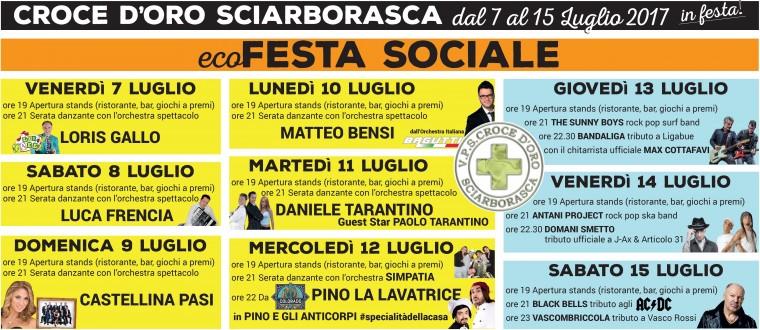Daniele Tarantino Calendario Serate.Ecofesta Sociale 2017 Dal 7 Al 15 Luglio A Sciarborasca